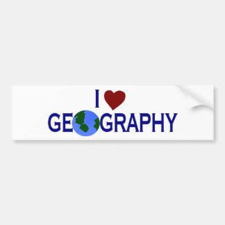 私は地理学を愛します バンパーステッカー
