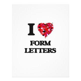 私は型枠手紙を愛します 21.6CM X 27.9CM チラシ