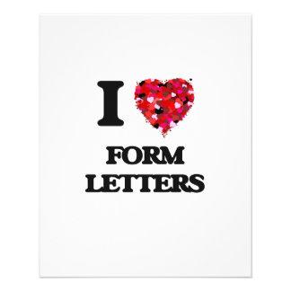 私は型枠手紙を愛します 11.4CM X 14.2CM チラシ