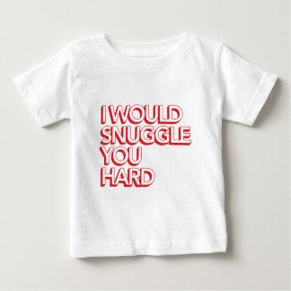 私は堅い寄添います ベビーTシャツ