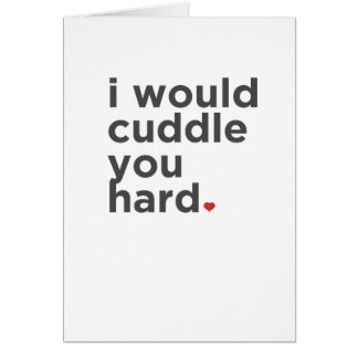 私は堅い抱きしめます。 おもしろカード グリーティングカード