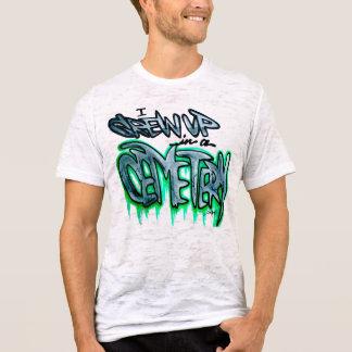 私は墓地で育ちました! 人のヴィンテージのTシャツ Tシャツ