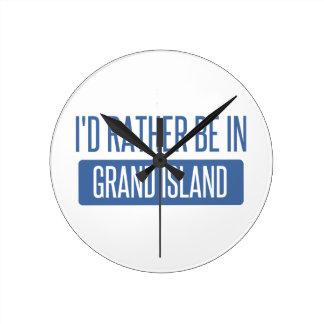 私は壮大な島にむしろいます ラウンド壁時計