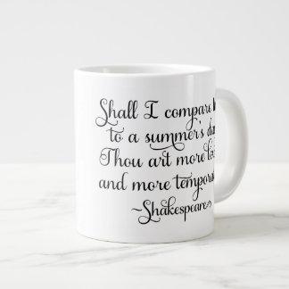 私は夏の日とthee -シェークスピアを比較します ジャンボコーヒーマグカップ