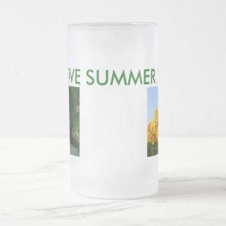 私は夏時間を愛します フロストグラスビールジョッキ