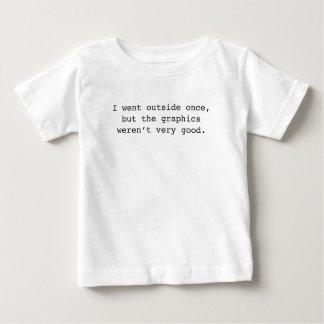 私は外側一度行きました ベビーTシャツ