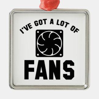 私は多くのファンを持っています シルバーカラー正方形オーナメント