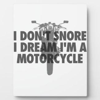 私は夢私によってがオートバイであるIのいびきをかきません フォトプラーク