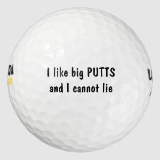 私は大きいパットをおもしろい好みます ゴルフボール