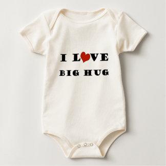 私は大きい抱擁を愛します ベビーボディスーツ