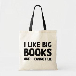 私は大きい本を好みます トートバッグ