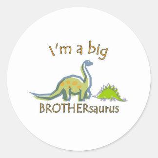 私は大きいbrothersaurusです ラウンドシール