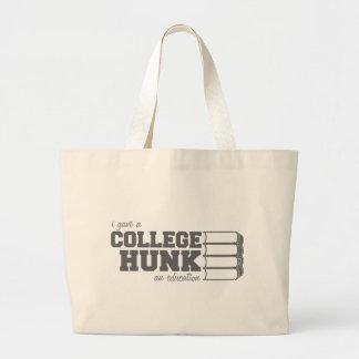 私は大学大きな塊に教育を与えました ラージトートバッグ