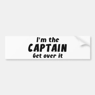 私は大尉ですGet Over It バンパーステッカー
