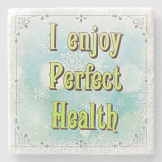 """""""私は大理石のコースターの完全な健康""""を楽しみます ストーンコースター"""