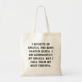 私は天使で、親切な天国送ります信じます トートバッグ