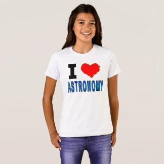 私は天文学を愛します Tシャツ