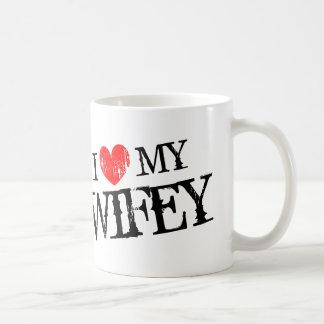 私は夫のための私のwifeyのバレンタインデーのマグを愛します コーヒーマグカップ
