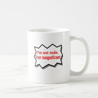 私は失礼ではないです コーヒーマグカップ