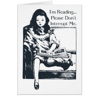 私は女の子を読んでいます カード
