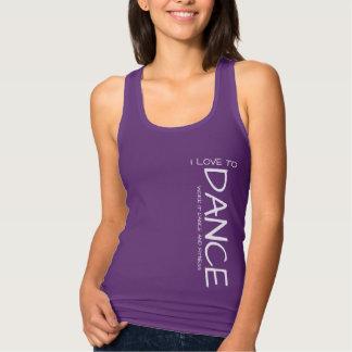 私は女性のワイシャツを踊ることを愛します タンクトップ
