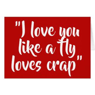 私は好みますはえ愛がらくたを愛します カード