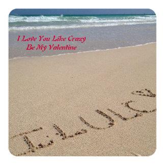 私は好みます熱狂する愛します-私のバレンタインの挨拶があって下さい カード