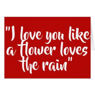 私は好みます花愛を雨愛します カード