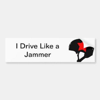 私は妨害機のバンパーステッカーのように運転します バンパーステッカー