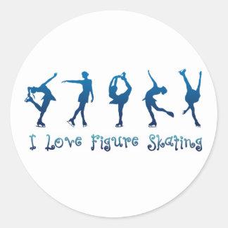 私は姿のスケートで滑るの青を愛します ラウンドシール