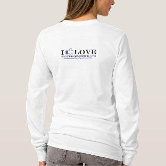 私は姿の競争-ファンのページ--を愛します Tシャツ