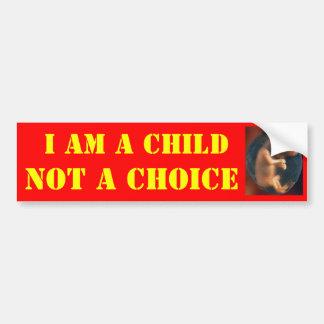 私は子供選択ではなくです バンパーステッカー
