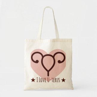 私は子宮のトートバックを愛します トートバッグ