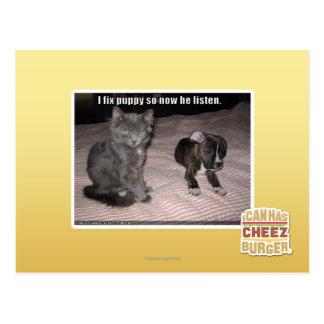 私は子犬を修理します ポストカード