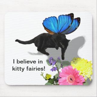 私は子猫の妖精の昆虫動物で信じます マウスパッド