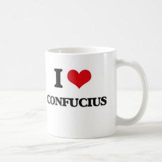 私は孔子を愛します コーヒーマグカップ