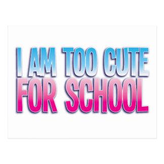 私は学校のために余りにかわいいです ポストカード