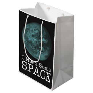 私は宇宙のギフトバッグを必要とします ミディアムペーパーバッグ