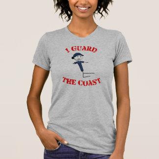 """""""私は守ります海岸""""の女性のTシャツ(赤い文字) Tシャツ"""