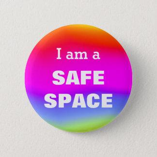 私は安全な宇宙です 5.7CM 丸型バッジ