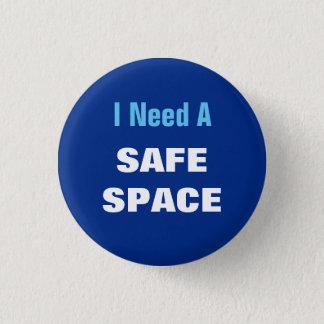 私は安全な宇宙を必要とします 3.2CM 丸型バッジ