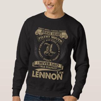 私は完全でした。 私はLENNONです スウェットシャツ