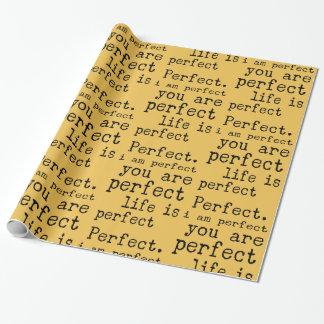 私は完全です完全な生命です完全です 包装紙