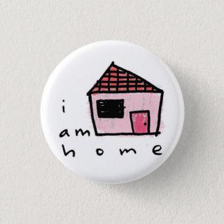 私は家です 3.2CM 丸型バッジ
