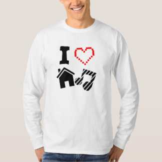 私は家音楽を愛します Tシャツ
