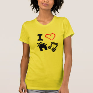 私は家音楽女性を愛します Tシャツ