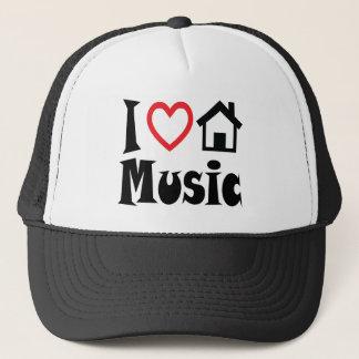 私は家音楽帽子の赤いハートを愛します キャップ