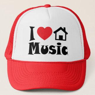 私は家音楽帽子を愛します キャップ