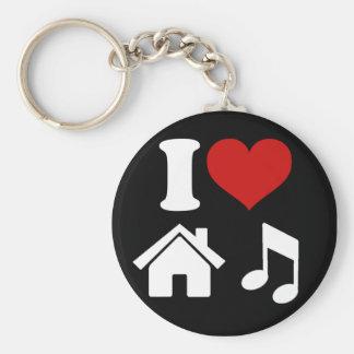 私は家音楽Keychainを愛します キーホルダー