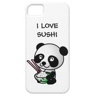 私は寿司のおもしろいなかわいいパンダくまおよびボールを愛します iPhone SE/5/5s ケース